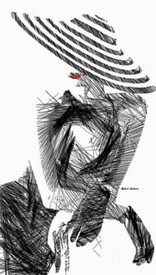 Digital Art - Elegant Woman Sketch Studio by Rafael Salazar