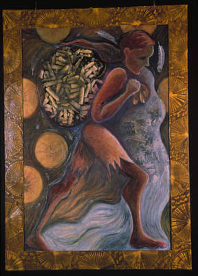 Vodou Painting - Elegbara At The Crossroads by Barbara Nesin