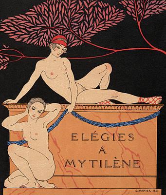 Fantasy Tree Art Painting - Elegies A Mytilene by Georges Barbier