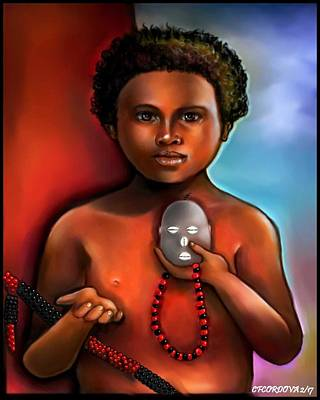 Orishas Digital Art - Elegua -child Orisha by Carmen Cordova