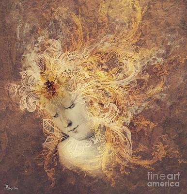 Burnt Digital Art - Element - Fire Fury by Ali Oppy