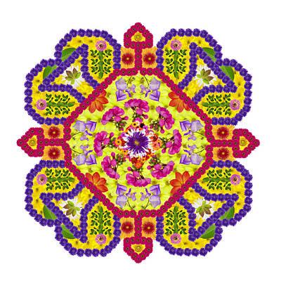 Element Of The Persian Rug - Diamond Amulet Art Print by Aleksandr Volkov