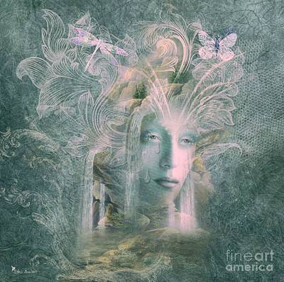 Digital Art - Element - Weeping Waters by Ali Oppy
