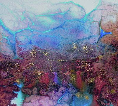 Art Print featuring the painting Elemental by Mary Sullivan