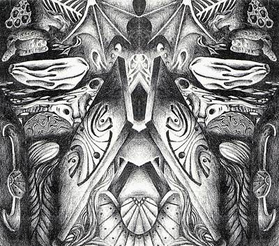 Clay Drawing - Elemental Nature by Mellissa Bushby