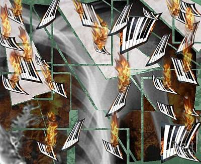 Digital Art - Elemental No.2 Tone Clusters by T Bork