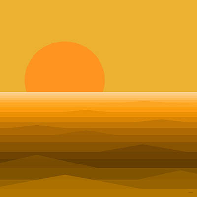 Digital Art - Elements - Golden Sunset by Val Arie