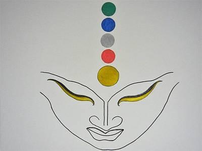 Drawing - Elements by Kruti Shah
