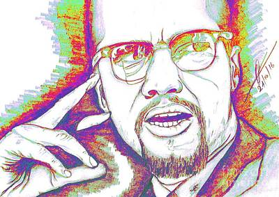 Elements Of A Malcolm X  Art Print by Collin A Clarke