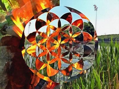 Art Print featuring the digital art Elements Of Life by Derek Gedney
