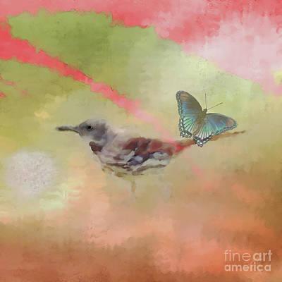 Dandelion Digital Art - Elements Of Nature by Anita Faye