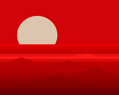Digital Art - Elements - Red by Val Arie