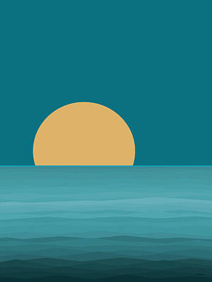 Digital Art - Elements - Water Sunrise by Val Arie