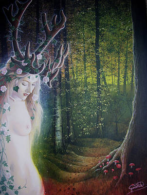 Painting - Elen Of The Trackways by Yuri Leitch