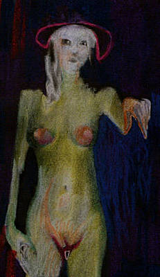 Figural Mixed Media - Elena With New Hat by Michal Rezanka