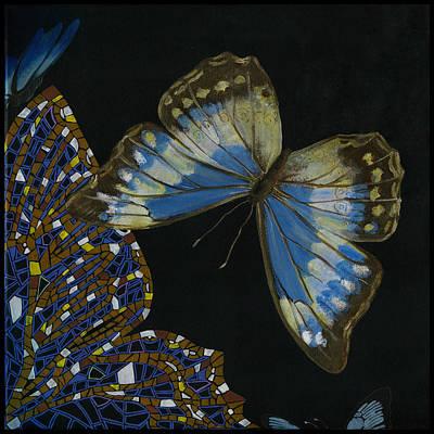 Painting - Elena Yakubovich - Butterfly 2x2 Top Right Corner by Elena Yakubovich