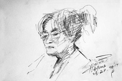 Lady Drawing - Eleni by Ylli Haruni