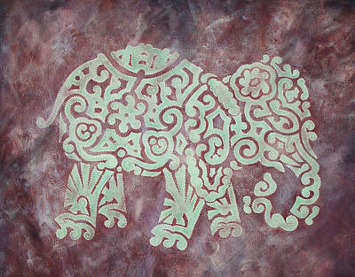 Earth Tones Painting - Elephant - Animal Series by Jennifer Kelly