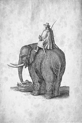 Elephants Digital Art - Elephant 02 Historiae Naturalis 1657 by Aged Pixel
