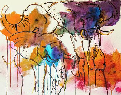 Elephant 1 Art Print by Rina Bhabra