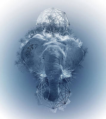 Abstract Nature Digital Art - Elephant 2 by Bekim Art