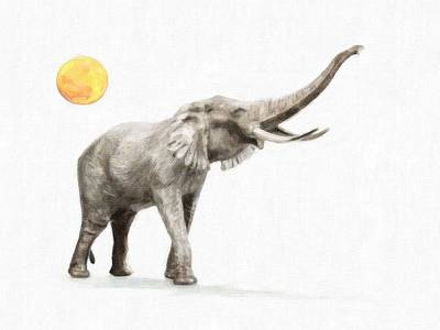 Africa Painting - Elephant 3 by Celestial Images