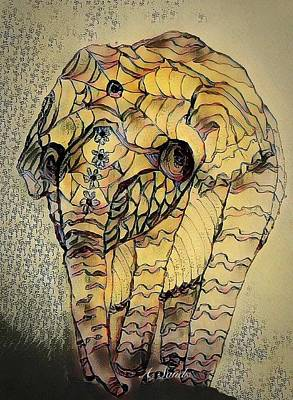 Digital Art - Elephant Abstract by Anne Sands