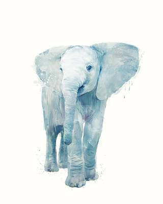 Cute Painting - Elephant by Amy Hamilton