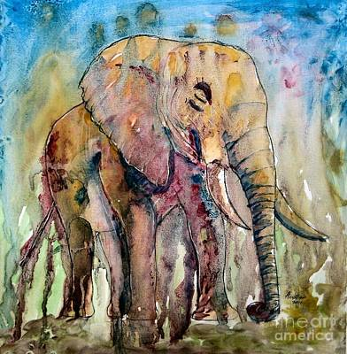 Elephant Art Print by Anastasis  Anastasi
