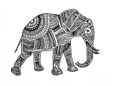 Pyrography Painting - Elephant by Andy Maryanto