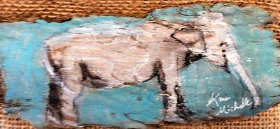 Mixed Media - Elephant by Ann Michelle Swadener