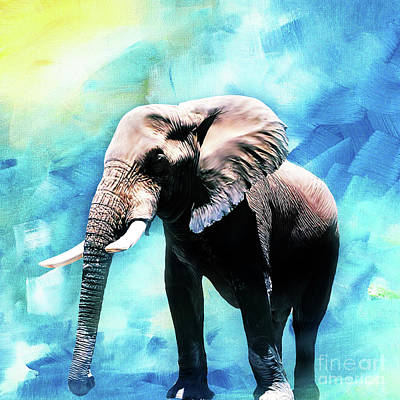 Elephant Painting - Elephant Art  by Gull G