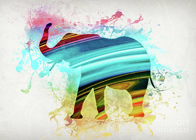 Digital Art - Elephant Art by Ian Mitchell