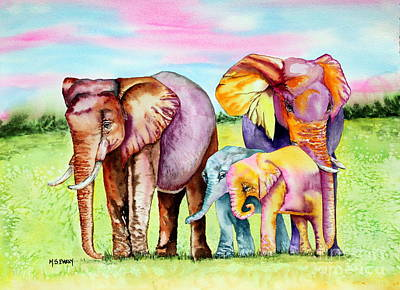 Painting - Elephant Aura by Maria Barry
