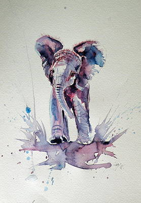 Elephant Baby Art Print by Kovacs Anna Brigitta