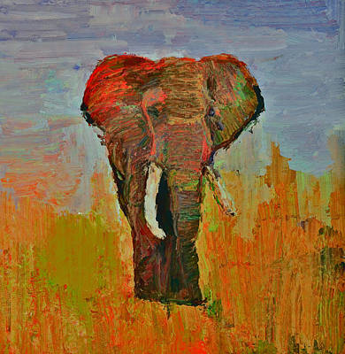House Pet Digital Art - Elephant Colors by Yury Malkov