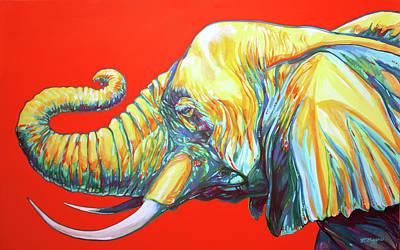 Brilliant Painting - Knysna Elephant by Derrick Higgins
