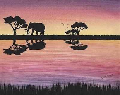 Painting - Elephant  by Edwin Alverio
