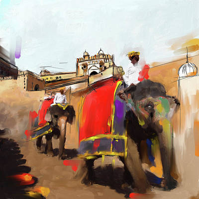 Painting - Elephant Festival 439 1 by Mawra Tahreem