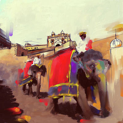Painting - Elephant Festival 439 2 by Mawra Tahreem