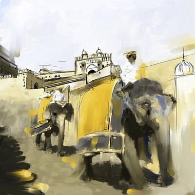 Painting - Elephant Festival 439 3 by Mawra Tahreem