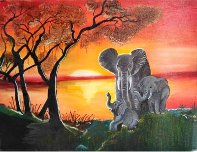 Dgt Painting - Elephant For Good Luck by Anie