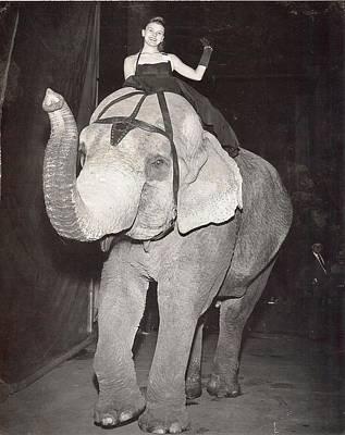 Art Print featuring the photograph Elephant Girl by Judyann Matthews