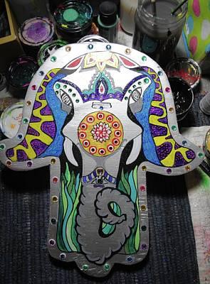 Painting - Elephant Hamsa by Patricia Arroyo