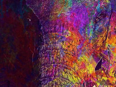Digital Art - Elephant Head Pachyderm  by PixBreak Art