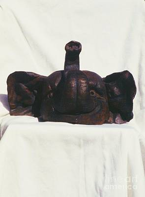 Elephant Head Sculpture Front View Original