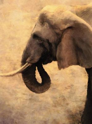 Painting - Elephant In The Sunlight by Georgiana Romanovna