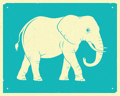 Elephant  Art Print by Jazzberry Blue