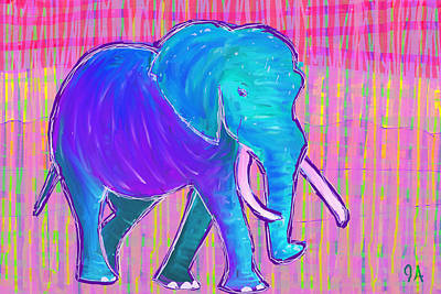 Painting - Elephant by Jeremy Aiyadurai