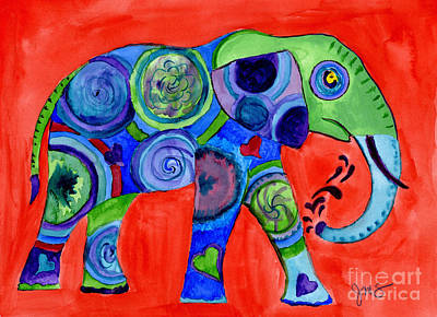 Painting - Elephant by Julia Stubbe